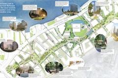 Illustrated map of Nine Elms Park