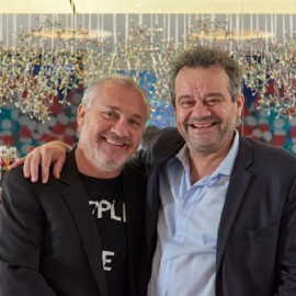Damien Hirst and Mark Hix