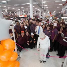 Ann Martin one of the areas longest serving colleagues opening of the new Sainsbury's Nine Elms. Credit: David Parry